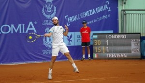 Tennis open stance forehand