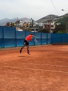 tennis serving motion