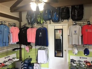 tennis equipment, bags, shoes, and balls
