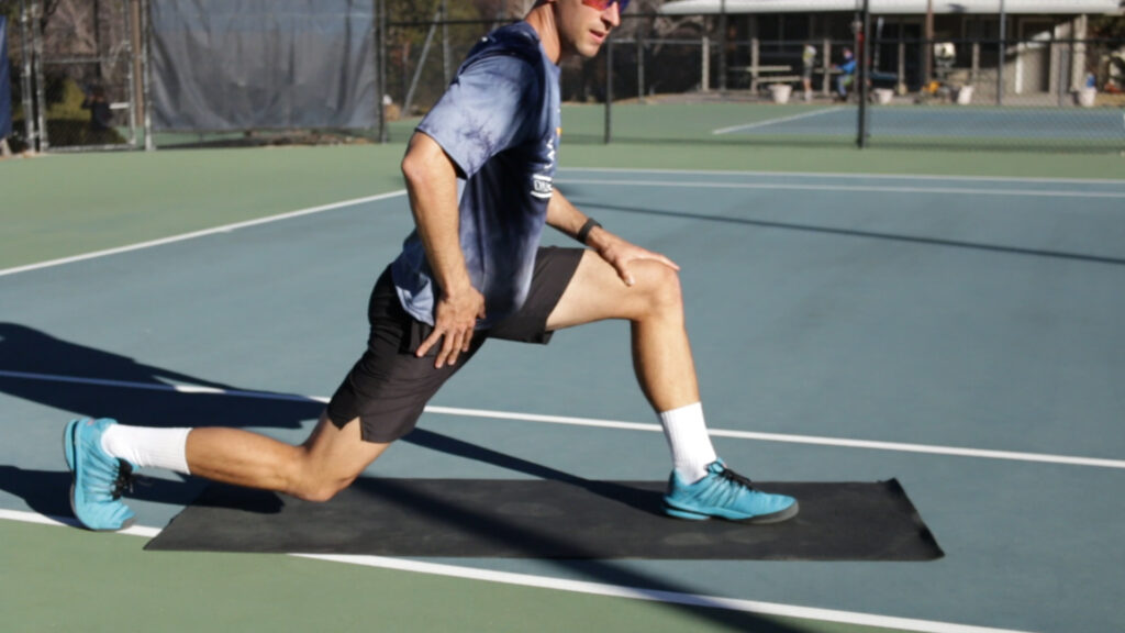 Runners Lunge Great Tennis Stretch