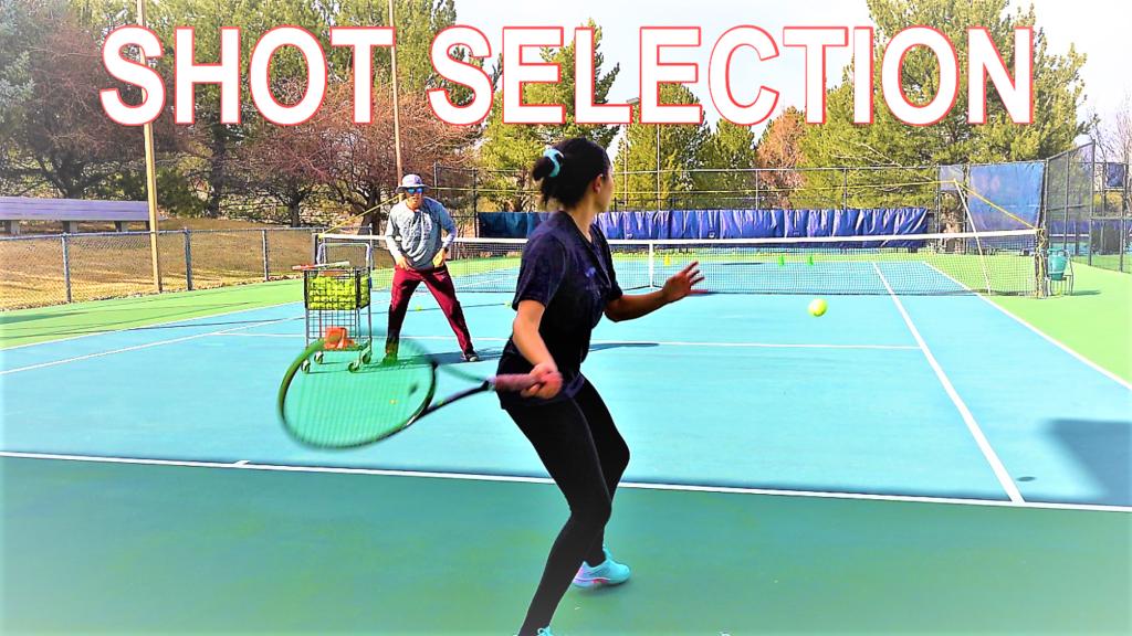 Tennis shot selection drills